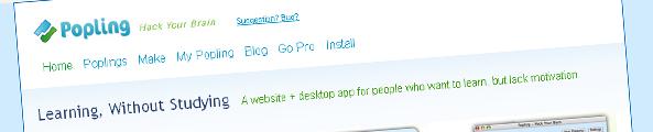 Service en ligne d'apprentissage Popling